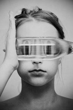 Brittany DeJesus - LOAF, fishbowl, self portrait, modern portrait photography Distortion Photography, Conceptual Photography, Creative Photography, Artistic Photography, Photography Projects, Photography Tips, Portrait Photography, Kreative Portraits, Photography Tricks