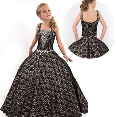 Black-Lace-Junior-Kids-Beauty-Pageant-Dresses-For-Girls-Pageant-Gowns-Rhinstone-Crystals-Spaghetti-Ball-Gown.jpg (700×700)