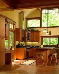 Kitchen of Lindal Cedar Home in New Jersey by Lindal Cedar Homes, via Flickr