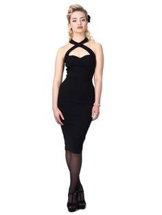 Collectif Penny Pencil Dress Black | Jurken | Miss Vintage | Retro, vintage geïnspireerde dames kleding