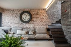living by Ciprian Manda Outdoor Sofa, Outdoor Furniture, Outdoor Decor, Brick Cladding, Wood Stairs, Interior Inspiration, Ideal Home, Sweet Home, Contemporary