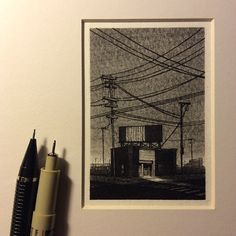 Amazingly Detailed Miniature Drawings Of Buildings Made With A Pen, Pencil - DesignTAXI.com