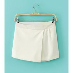 Solid Color Straight Leg All-Match Simple Style Women's Pantskirt, WHITE, L in Pants & Shorts   DressLily.com