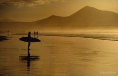 Playa de Famara, Isla de Lanzarote, Canarias   Saul Santos Diaz - fotógrafo