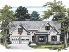 Eplans Cottage House Plan - Ornate Charm - 1185 Square Feet and 3 Bedrooms from Eplans - House Plan Code HWEPL08204