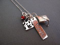 Graduation Gift, College Graduation Gift, High School Graduation, 2013, 2014, Personalized Jewelry, Personalized Necklace, Customized