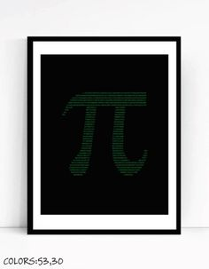 Attirant Pi Art Print For Geeks, Office Gallery Wall Decor Science Joke Math  Computer Coding Programming Nerd Design Software Typography Numbers