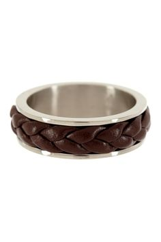 Braided Leather Ring by Blackjack Jewelry on @HauteLook