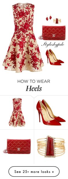 """Happy Mother's Day 2016"" by stylesbypdc on Polyvore featuring Naeem Khan, Christian Louboutin, Chanel and Nuage"