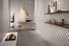 Rivestimenti ceramici tridimensionali per sale da bagno di design