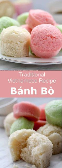 B nh b is a kind of steamed sponge cake made from rice flour that is originally from southern China and is popular in Vietnam Vietnam VietnameseCuisine VietnameseFood VietnameseRecipe AsianCuisine AsianRecipe AsianFood WorldCuisine via Vietnamese Dessert, Vietnamese Cuisine, Vietnamese Recipes, Asian Recipes, Vietnamese Cake Recipe, Banh Bo, Rice Flour Recipes, Chocolates, Asian Desserts