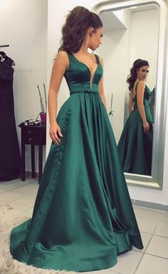 Sexy Long Prom Dress, Cheap Sleeveless Prom Dress, Sexy A Line Evening Dress, Long Evening Dress, Formal Dress