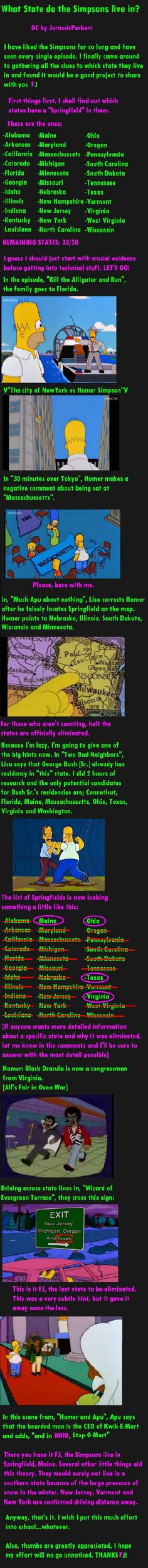 Which State do the Simpsons live in?