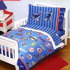 MLB Playoff Baseball Toddler Bedding Set