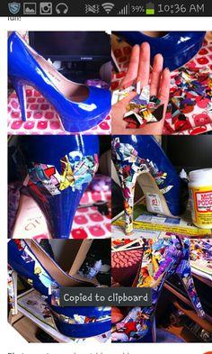DIY - Comic Book Shoes
