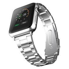 Apple Watch Band, JETech® 38mm Stainless Steel Strap Wrist Band Replacement w/ Metal Clasp for Apple Watch All Models 38mm JETech http://www.amazon.com/dp/B00YSMEMR8/ref=cm_sw_r_pi_dp_P3fCwb13B7TMS