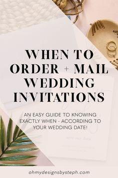 How far in advance should you order wedding invitations? Well, there are a few different scenarios, but if you're going the boutique route - at least four months ahead is usually a safe bet!