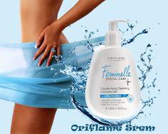 Feminelle Special Care+ Deodorising gel za intimnu negu Šifra:23646 Dezodorirajući gel za intimno pranje sa Deo kompleksom pruža celodnevni osjećaj svežine te efikasno sprečava razvoj neugodnih mirisa uzrokovanih bakterijama i njihovim širenjem. Ostavlja kožu svežom i hidriranom. 300 ml