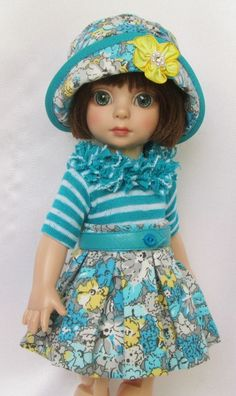 """PATSY'S SPRING FLING OUTFIT!  FOR 10""""ANN ESTELLE, ETC.MADE BY SSDESIGNS"""