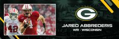 "Welcome to the Packers, Jared Abbredaris!  A ""home state"" boy from the Badgers :)"