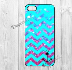 Chevron- iphone 5 case iphone 5s case iphone 5c case Hard plastic Soft rubber iphone 5 5s 5c cover Chevron anchor pearl background on Etsy, $7.90