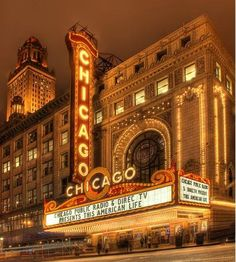 The Chicago Theatre; *View beautiful French-Baroque interiors  *Stand on the…