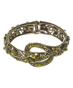 Look at this Green Knot Hinge Bangle on #zulily today!