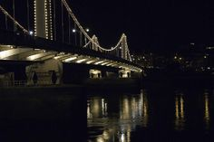 Chelsea Bridge Is pretty ordinary during day light. But at night it seems to come alive.