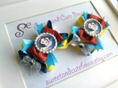 Snow White Hair Bow by SweetandCuteBows on Etsy, $14.50