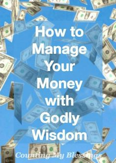 Money is a huge issue for so many of us. As individuals and especially as couples money is a big deal and God knew it would be...He gave us wise direction.