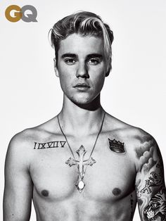 Justin Bieber Discusses Hailey Baldwin Relationship with 'GQ': Photo Justin Bieber shows off his shirtless body in this brand new image from GQ magazine's March 2016 issue, on newsstands February In the issue, the Justin Bieber Fotos, Justin Bieber Tattoos, Justin Bieber Photoshoot, Justin Bieber Pictures, I Love Justin Bieber, Justin Beiber Shirtless, Justin Tattoo, Justin Bieber Wallpaper, Hailey Baldwin