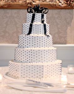 black polka dot reception | alison and dave s wedding see more wedding cakes round modern photos ...