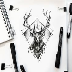 Tattoo Trends – can be a perfect solution to make tattooing a pleasant experience for… Mens Owl Tattoo, Deer Tattoo, Feather Tattoos, Lion Tattoo, Wolf Tattoo Design, Eagle Tattoos, Wolf Tattoos, Cervo Tattoo, Geometric Tattoo Deer