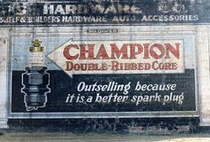 Champion Spark Plugs ghost sign