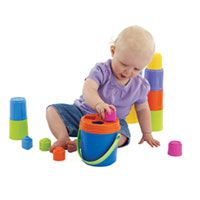 This website has gifts by age group! (Kidoozie Nest and Stack Buckets)