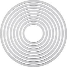 Amazon.com: Sizzix Framelits Die Set 8PK - Circles