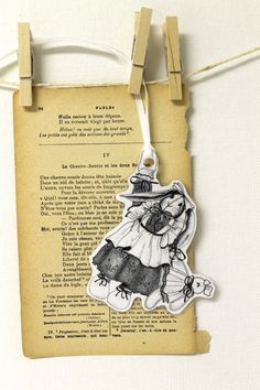 Illustrated Bookmark or Hang Tags