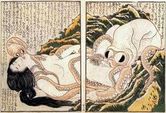 The dream of a fisherman's wife ~ Hokusai ~ Eroticism