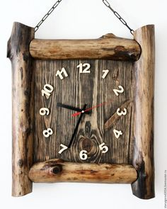 Clock Art, Diy Clock, Clock Decor, Wooden Projects, Woodworking Projects Diy, Wood Crafts, Wooden Wall Art, Wood Art, Bois Diy