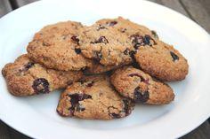Oat cookies with blueberries and dark chocolate - haver koekjes met bosbessen en pure chocolade