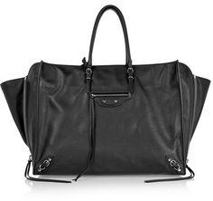 Balenciaga - Papier A4 Zip Around Textured-leather Tote - Black