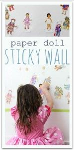 Activity of the Week: Paper Doll Sticky Wall - pinned by @PediaStaff – Please Visit ht.ly/63sNtfor all our pediatric therapy pins