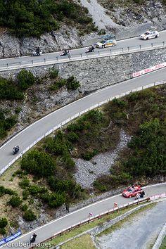 Dolomites, Italy .- Giro d'Italia.