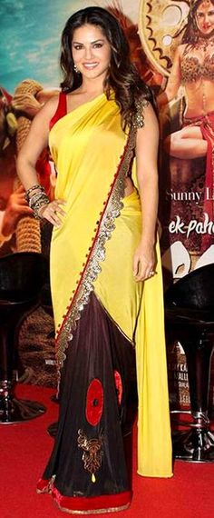 Bollywood Actresses In Saree - Sunny Leone In A Yellow Saree Sunny Leone Photographs UNIFORM SAREE PHOTO GALLERY  | SATISHSILKMILLS.COM  #EDUCRATSWEB 2020-06-12 satishsilkmills.com https://www.satishsilkmills.com/imgsmall/medium2/Purple-Paisley-Printed-Crepe-Silk-Uniform-Saree-UV4-4011.JPG