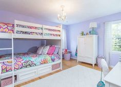 Kids Room Ideas For Girls Paint Bedroom Colors Diy Projects 68 Ideas For 2019 Periwinkle Bedroom, Bedroom Colors, Bedroom Ideas, Purple Bedroom Design, Diy Bedroom, Purple Kids Bedrooms, Teen Girl Bedrooms, Guest Bedrooms, Kids Bedroom Paint