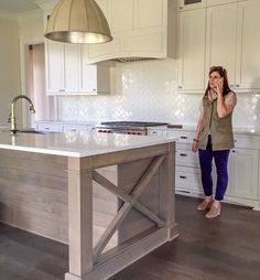 How to Make Earthy Tile Look Expensive   Maria Killam, #subwaytile #herringbone #kitchendesign, proudhomestaging.com