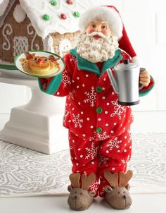 Christmas Morning Santa Figurine http://www.touchofclass.com/