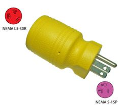 Conntek 30222-YW 15A 110V to 3-Prong 30A Generator Plug Adapter. More info: http://conntek.com/products.asp?id=105