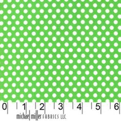 Michael Miller House Designer - Dots - Kiss Dot in Mint
