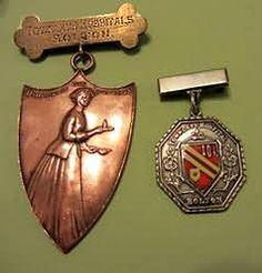 Nursing badge School Badges, Nursing Pins, Florence Nightingale, Vintage Nurse, Nurse Stuff, Nurse Badge, Challenge Coins, Nurse Humor, Red Cross